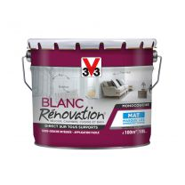 Blanc rénovation V33 mat 10l