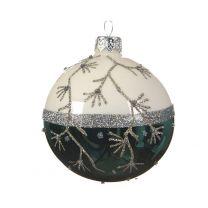 Boule de Noël Bicolore avec Branches
