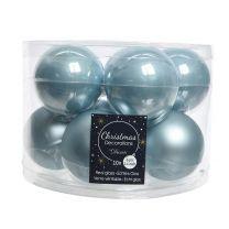 Boules de Noël Email Bleu