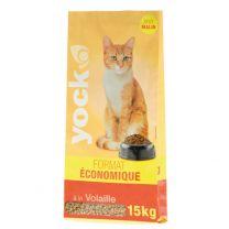 Croquettes pour Chat Yock à la Volaille 15KG
