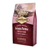 Croquettes pour Chaton Sans Céréales au Saumon et à la Dinde Carnilove 2KG