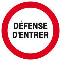 Disque Défense d'Entrer