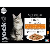 Effilés en sauce Yock Poulet - Haricots Verts et Boeuf - Carottes
