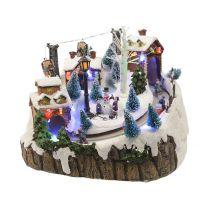 Figurine - Village de Ski avec Leds