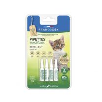 Francodex - Pipettes Insectifuges Chaton x4