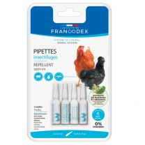 Francodex - Pipettes Insectifuges Volailles X4