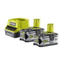 One + Ryobi Batterie X2 18V 5AH + Chargeur