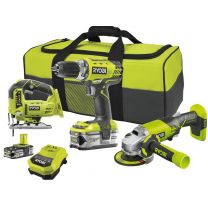 One + Ryobi Combo Kit 18V 3M + 2 Batteries