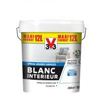 PEINTURE V33 BLANC INTERIEUR MAT 12L