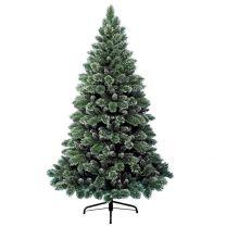 Sapin de Noël Artificiel Vert Finley Givre 150CM