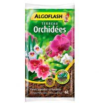 Terreau Algoflash 6L Orchidées avec Tourbe et Ecorces de Pin