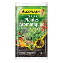 Terreau Plantes Aromatiques Tomates et Légumes 6L