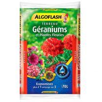 Terreau Plantes Fleuries et Géranium Algoflash 70L