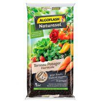 Terreau Potager Horticole pour Fleurs, Fruits et Légumes Algoflash 40L