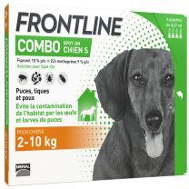 Frontline Combo - Anti Puces et Tiques Chien x4