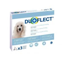 DuoFlect - Anti Puces et Tiques Chien x3
