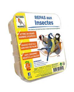 Repas aux insectes graisse végétale pour oiseaux natures market